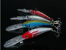 4PCS Minnow Crankbait Fishing Lures Lure Hook Medium Water For Bass 10cm 9g