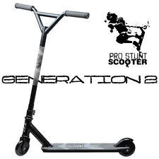STEALTH BLACK Pro Style Aluminum Stunt Kick Scooter Skatepark BMX Handlebar Z