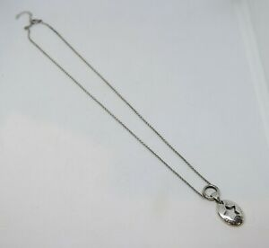 1999 Tiffany & Co. Star Pendant Necklace, Sterling, Interesting Circle Pendant
