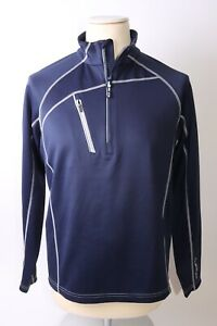 Sunice Men's Alexander Technical Layers 1/2 Zip Pullover  - M - Navy - NO Tags