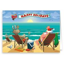 Beachside Enjoyment Christmas Card 18 Cards & Envelopes