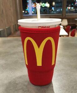 McDonalds Koozie JAVA SOK Red Large 32oz Thermal Insulated Neoprene Cup Sleeve L