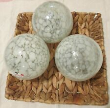 Pier 1 Decorative Glass Ball/ Color white/ Handcrafted in Mexico 4""