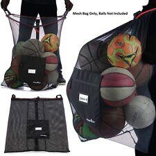 Mesh Sports Ball Bag Basketball Volleyball Drawstring Equipment Storage Laundry