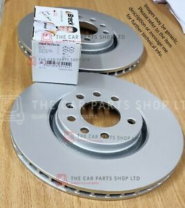 FITS FORD S-MAX 2.0 TDCI 2006-2014 COATED REAR BRAKE DISCS + BRECK BRAKE PADS