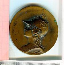 Médaille Marianne casquée coq Art nouveau