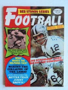 1972 Football Magazine Cowboys Staubach Lions Owens  - FLASH SALE
