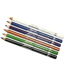 Lot de 6 crayons yeux waterproof métallisé noir vert doré violet bleu & blanc