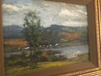 "Gustave Wiegand """"The Blue Ridge"""" Painting, Signed  MB75"