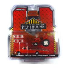 Greenlight 33160 Ford F-150 Ramp Truck + Tractor Red - HD Trucks 1:64 New °