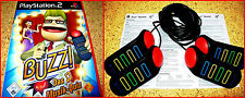 PS2 Buzz Music Quiz + PS2/PS3 Buzzer German Version Complete in German