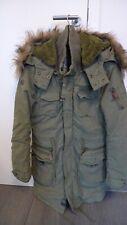 Khujo Parka Winterjacke Wintermantel khaki oliv grün Teddy Kapuze Fell Gr. L