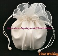 SATIN & ORGANZA BRIDAL DOLLY BAG/FLOWER GIRL HANDBAG,pl