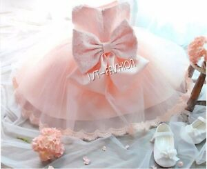 Baby Girl Flower Princess Dress Pageant Party Birthday Tutu Skirts Wedding Gown