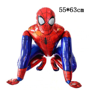 Large 3D Spiderman Foil Balloon Kids Birthday Party Super Hero Decoration