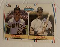 Vtg 80's Fleer Prospects #643 Felix Fermin & Jessie Reid Baseball Card