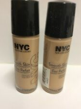 LOT OF 2 - NYC New York Color Smooth Skin Liquid Makeup - #682 Warm Beige NEW.