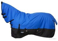 """Winter Horse Turnout Blanket - 600D - Full Neck - Royal Blue - Sizes 69"""" to 84"""""""