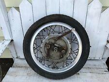 1974 Laverda 750 SF  Front Wheel Hub Brake Plate Borrani Rim  2LS Vintage Cafe