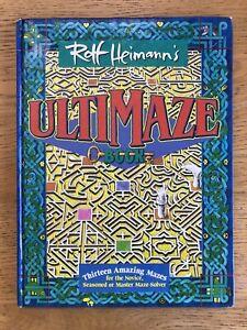 Ultimaze Book | Rolf Heimann | HC 1992 Periscope Press | RARE Vintage Mazes