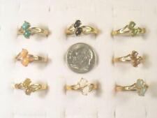 6... 2 Each   OPAL RINGS  CRYSTALS GEMSTONE SEMI-PRECIOUS VINTAGE LOT 168UP