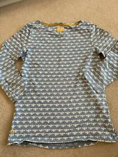 Joules Ladies Bee Teal Blue Harbour Top T Shirt Size 6