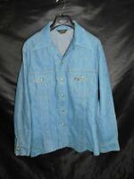 Vintage 70s Lee XL Blue Jean Denim Jacket Western Snap Front USA Made Mens XL-R