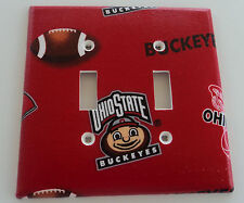 Ohio State Buckeyes Double Light Switch Cover Bathroom Wall Decor