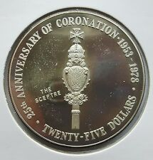 CAYMAN-ISLANDS: 25 DOLLAR 1978, 25. THRONJUB. V. ELISABETH II., (Alb03E08), PP !