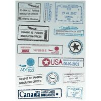 14x Sticker Retro Travel Post Mark Stamp Signet A4 Size Rimowa Luggage Bag Decal