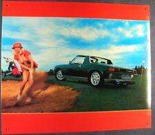 Altes Blechschild Oldtimer VW Porsche 914 916 Werbung Reklame gebraucht used