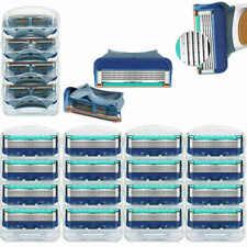16Pcs Men's 5 Blades Razor For Gillette Fusion Proglide Power Replacement Blue