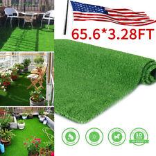 65x3ft Artificial Grass Mat Synthetic Landscape Fake Lawn Pet Dog Turf Garden