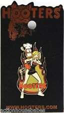 HOOTERS SEXY STAFF GIRL GRILLING COOK/COOKING BARBEQUE FIRE HOOTIE LAPEL PIN