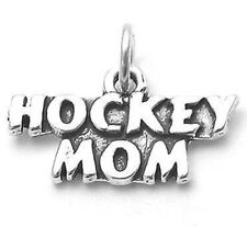 925 Sterling Silver Hockey Mom Charm