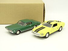 Yatming SB 1/43 - Lot de 2 : Ford Shelby GT500 + Mercury Cougar