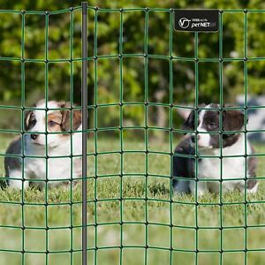 Premium Hundezaun 12m grün 65cm Hundenetz Kleintiernetz Elektrozaun Zaun