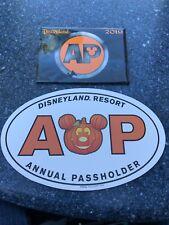 Disney Parks Annual Pass Holder Halloween Mickey Pumpkin Car Magnet And AP Pin