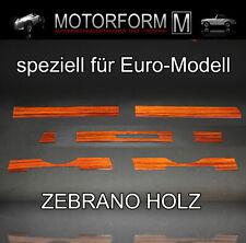 Mercedes SL W107 R107 107 Zebrano Holz Armaturenbrett Zierstreifen Holzstreifen