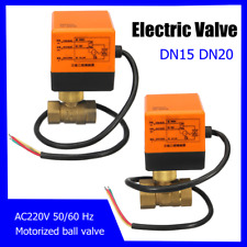 Electrical Motorized Ball Valve DN15/DN20 220V 2 Way 3 Wire Brass Copper 4W