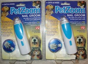 2 X BATTERY OPERATED PET DOG/CAT NAIL/CLAW GRINDER/CLIPPER PAW GROOMING TOOL