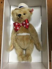 "First American Teddy Bear Steiff North American Exclusive 15"" NEW IN BOX"