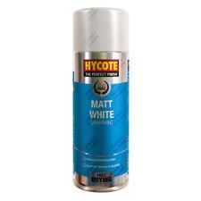 x3 Hycote® 400ml Matt White Aerosol Car Spray Paint Tough Acrylic Formula
