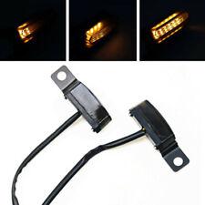 LED Flowing Blinker Black Mini Turn Signal Light For Harley Cafe Racer Cruiser