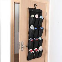 Over Door Hanging Shoe Rack Hanger Storage Tidy Organiser 12 Pairs Pockets Bag