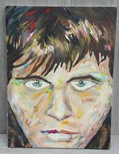 Man Art Oil Painting Weird Serial Killer Scary Signed Clown Freak Creep Canvas
