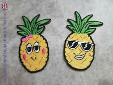 HIGH QUALITY PINEAPPLE PATCHES FRUIT DANCE HOLIDAY IRON ON APPLIQUE BADGE