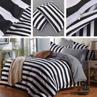 Pop Black White Stripes Bedding Sets Bedclothes Duvet Cover Sheets Home Decor