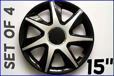 "SET OF 4 15"" WHEEL TRIMS TO FIT TOYOTA IQ, YARIS + FREE GIFT #8"