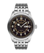 NEW Mens Seiko SNE445 Solar Quartz Stainless Steel Watch Recraft Series Dial